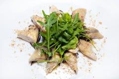 Курсы закусок, салатов, первого и второго, суп стоковые фотографии rf
