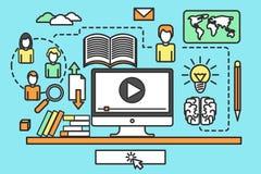 Курсы онлайн обучения бесплатная иллюстрация