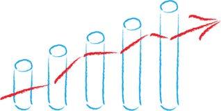 Курс акций, диаграмма в виде вертикальных полос, баланс активов и пассивов, дело Стоковое Изображение RF