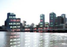 Курс акций и здание стоковое изображение rf