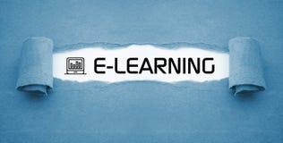 Курс обучения по Интернету онлайн уча онлайн стоковое фото rf