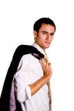 куртка бизнесмена над серьезным плечом Стоковое Изображение