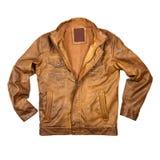 Куртка Брайна кожаная стоковые фотографии rf