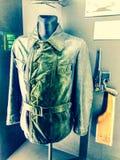 Куртка воинского командира Второй Мировой Войны кожаная стоковое изображение