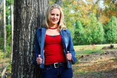 куртка джинсовой ткани мой показ Стоковые Фото