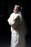 куртка невесты screaming прямо стоковые фотографии rf