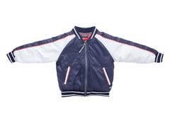 Куртка осени или зимы Children's Стильные дети голубые и стоковое изображение
