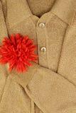 куртка сердца золота цветка Стоковое Фото