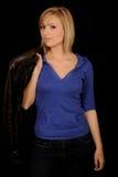 куртка удерживания девушки Стоковое Изображение RF