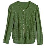 Куртка шерстей женщины зеленая, традиционный стиль Tracht немца Стоковое Фото