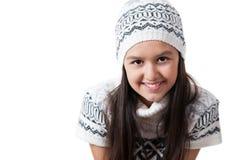 куртка шлема девушки меньшяя зима Стоковые Изображения RF