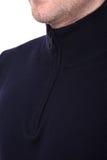 Куртка ` s людей воротника конца-вверх Стоковая Фотография