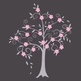 Курчавая иллюстрация вектора дерева Стоковые Изображения