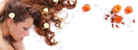 курчавые волосы Стоковое Фото