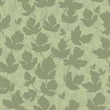 курчавый зеленый цвет выходит безшовная swampy текстура Стоковые Изображения