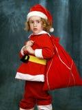 курчавый маленький santa Стоковые Фотографии RF
