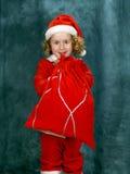 курчавый маленький santa Стоковое Изображение