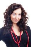 курчавый портрет волос девушки стоковые фото