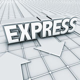 курьерский логос Стоковое Изображение RF