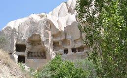 Курятники голубя отрезка утеса, Cappadocia, Турция Стоковое фото RF