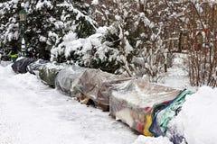 Курятник бродяги в зиме Стоковое Фото