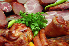 курят мясо products2, котор Стоковое фото RF