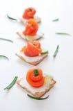 Курят salmon и плавленый сыр Стоковое Изображение