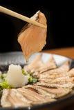 Курят Salmon ломтик Стоковые Фото