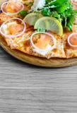 Курят salmon пицца Стоковое Изображение