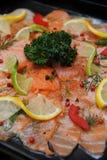 Курят Salmon салат Стоковые Изображения