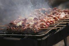 курят shish kebabs bbq, котор Стоковое фото RF