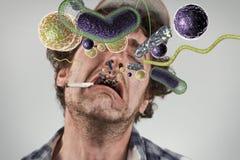 Куря бактерии деревенщины Стоковые Фото