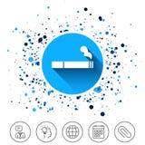 Куря значок знака Символ сигареты бесплатная иллюстрация