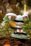 Куря статуя зайчика Стоковая Фотография