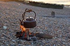 Куря чайник лагеря Стоковые Фото