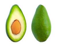 2 куска авокадоа изолированного на белизне Стоковая Фотография