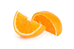2 куска апельсина Стоковые Изображения RF