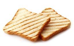 2 куска провозглашанного тост хлеба Стоковое Изображение
