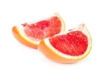 2 куска сочного грейпфрута Стоковое фото RF
