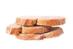 3 куска хлеба изолированного на белизне Стоковые Изображения RF