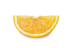 Куски апельсина изолированные на белой предпосылке Путь клиппирования стоковое фото
