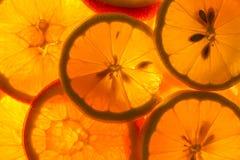 Куски лимона и апельсина Стоковая Фотография