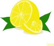 Куски лимона, собрание иллюстраций Стоковая Фотография RF