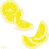Куски лимона, собрание иллюстраций Стоковые Фото