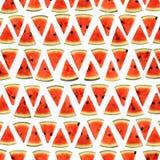 Куски картины арбуза безшовной Стоковые Изображения