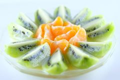 Куски кивиа и апельсинов Стоковое Фото