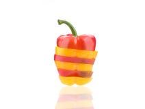 Куски красочного болгарского перца Стоковое Изображение