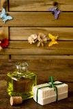 Куски мыла оливкового масла handmade Стоковое фото RF