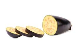 Куски овоща баклажана или aubergine Стоковая Фотография