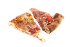 Куски пиццы ветчины Пармы Стоковое фото RF